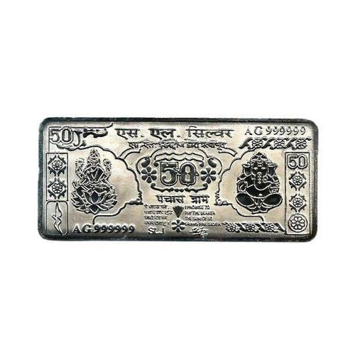 50 Gm Silver Note Laxmi Ganesh At Rs 2500 Piece Silver