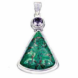 Turquoise pendant manufacturers suppliers of firoza ka jhumka amethyst turquoise gemstone 925 silver pendant aloadofball Image collections