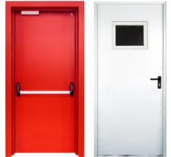 Mild Steel Fire Safety Industrial Fire Door