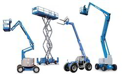 Scissor Lift Solid Resilient Tyres