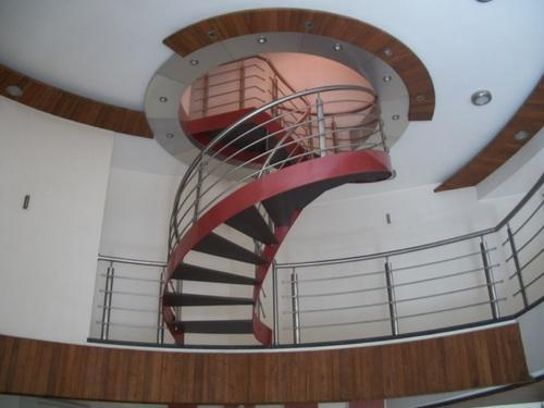 Mild Steel Helical Staircase, For Office,Bungalow
