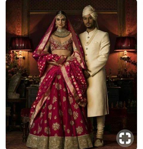 f9d8f012fb91 Stitched Brocade Wedding Lehenga, Rs 40000 /piece, Femina Enterprise ...