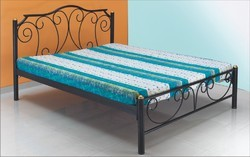Cherry Wood Brown Metal Bed, For Home, Single