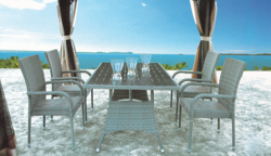 Basic Style Outdoor Wicker Dining Table Set