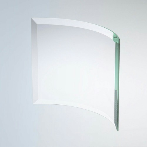 Transparent Beveled Bent Glass