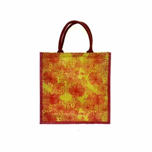 Floral Print Jute Bags