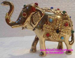 Brass Stone Elephant Statues