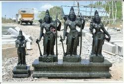 Divine Black Stone Lord Sri Ram Parivar 6 Feet Statue