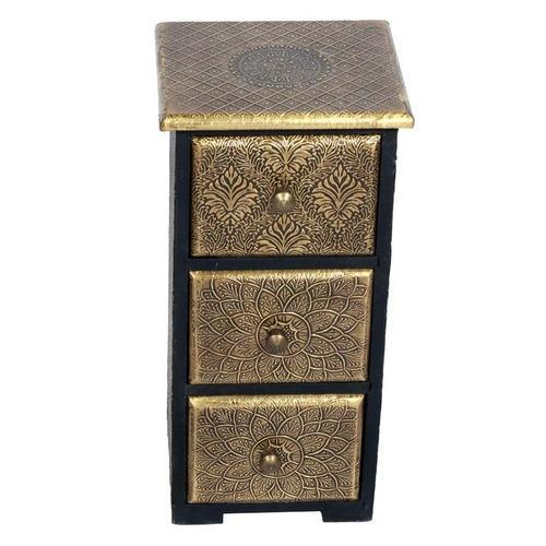 Home Decor Affluent Wooden Vertical Three Drawer With