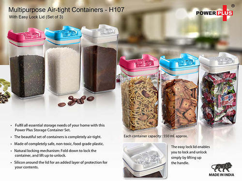 Multipurpose Air tight Containers With Easy Lock Lid set Of at Rs