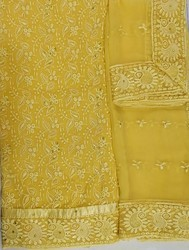 Georgette Casual Wear And Formal Wear Lucknow Chikan Salwar Suit
