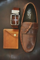 Retirement Leather Gift Combo Set