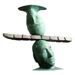 FRP Head On Head Sculpture