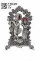 White Metal Silver Plated Radha Krishna Statue