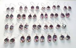 Sterling Silver India Whole Alexandrite Earrings Jewelry