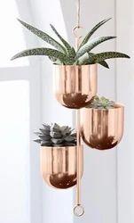 Round Plain Copper Interior Designing Plant Pots, for Restaurant