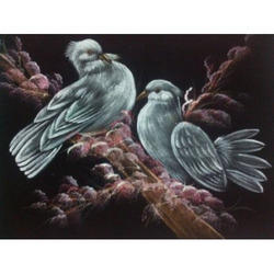 Painting Of Two Pigeon