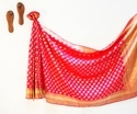Banarasi Silk Body Designed Dark Pink Handloom Weave Designer Saree, With Blouse Piece