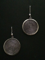 Silver Oxidized And Elegant Earrings