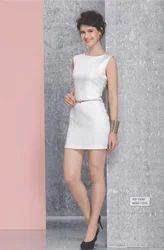 Silk Party Wear SD-1506 White One Piece Dress