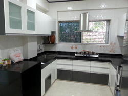 G shaped modular kitchen suppliers manufacturers for Kitchen trolley designs catalogue