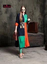 Fancy Daily Wear Straight Rayon Kurtis