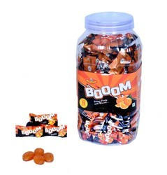 Neptune Boom Orange Candy, 170 Pieces In A Jar