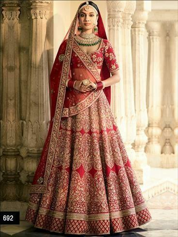 7e4cb68101 Heavy designer bridal wear Lehenga choli at Rs 6500 /piece | Uttam ...