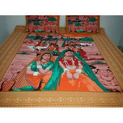 Genial Rajasthani Printed Bed Sheet
