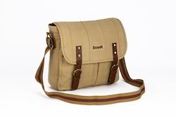 Plain Canvas Laptop Sling Bag