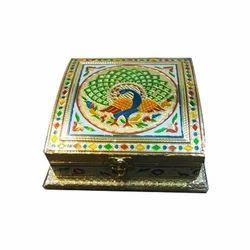 Meenakari Wooden Dry Fruit Box
