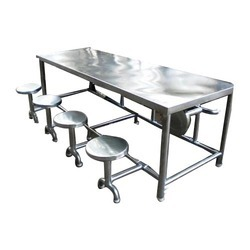 stainless steel dining table metal furniture suppliers shakambari engineers in vapi id