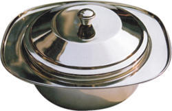Heritage Silver Steel Serving Dish