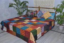 Silk Patola Hand Kantha Quilt