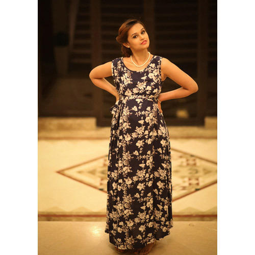 8007a6280f27f Blue Empire Maternity Maxi Dress at Rs 2399 /piece(s) | Maternity ...