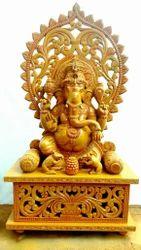 Lord Ganesha 4 Feet Wooden Statue