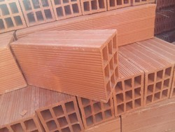 RV Tiles Clay Hollow Bricks, For Side Walls, Size: 8*8*4 inch