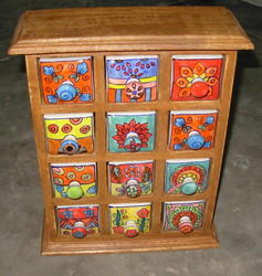 Hand Painted Ceramic Drawer