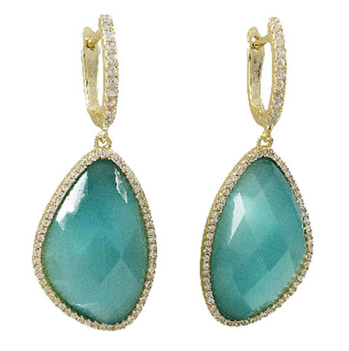 earrings semi of earring boutique stone precious products access oval green copy
