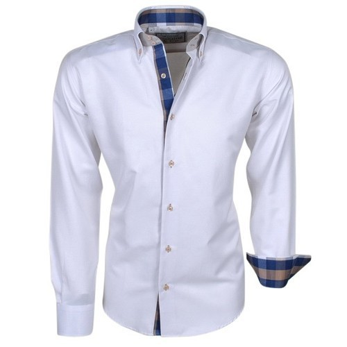 03c75cc3af9b0 Men  s Cotton Full Sleeves White Formal Shirt