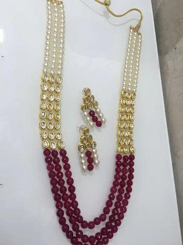 Kundan And Pearl Set Kundan Pearl Necklace Set
