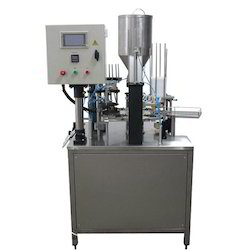 Pneumatic Rotary Cup Sealing Machine