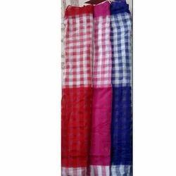 Checks Design Saree Fabric