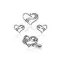 Ultra Shine 925 Sterling Silver Love Combo Set