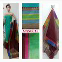 Designer Ladies Maheshwari Handloom Suit Fabric