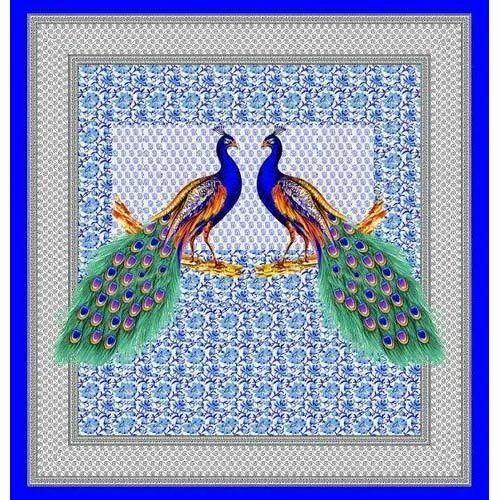 Peacock Print Bed Sheet