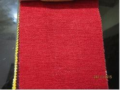 Red Plain Chenille Fabric
