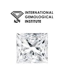 Princess Cut Real 1.00Ct IGI Certified Diamond VVS/G Color