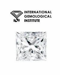 Princess Cut Real 1.00Ct IGI Certified Diamond VVS/G Color