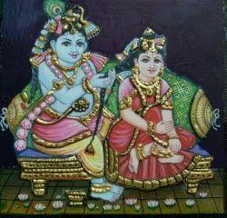 Radha krishnan Tanjore paintings